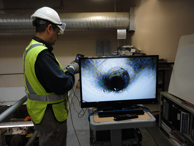 Robotic inspection of interior ducting